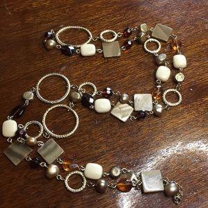 Lia Sophia long bead necklace